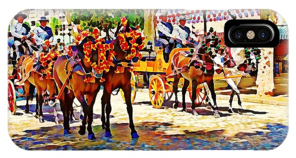 May Day Fair In Sevilla, Spain IPhone Case