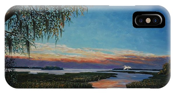 May River Sunset IPhone Case