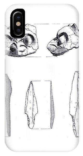 Maya Cat Head And Stone Tools IPhone Case