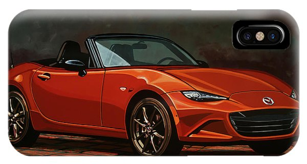 Elegant iPhone Case - Mazda Mx-5 Miata 2015 Painting by Paul Meijering