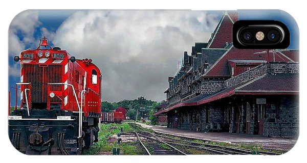 Rights Managed Images iPhone Case - Mcadam Train Station by Anthony Dezenzio