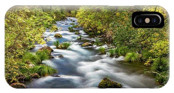iPhone Case - Mcarthur-burney Falls Creek by Bill Gallagher