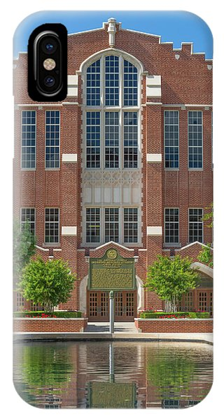 Oklahoma University iPhone Case -  Mccasland Field House by Ken Wolter