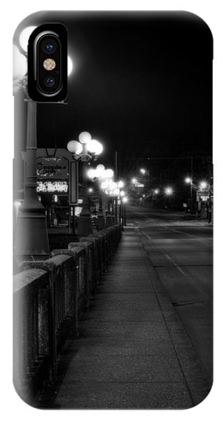 Mccaysville Bridge At Night In Black And White Phone Case by Greg Mimbs