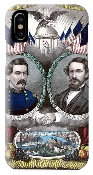 George iPhone Case - Mcclellan And Pendleton Campaign Poster by War Is Hell Store