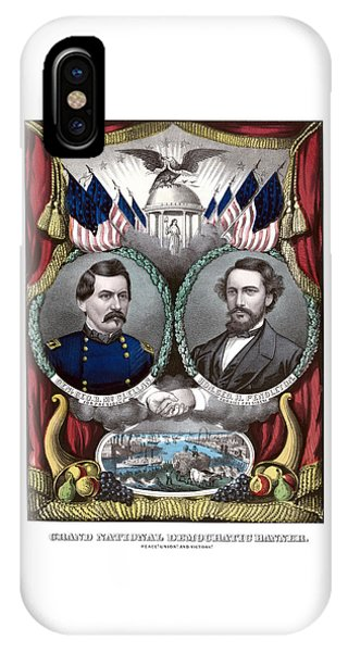 Election iPhone Case - Mcclellan And Pendleton Campaign Poster by War Is Hell Store