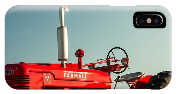 Red Sky iPhone X Case - Mccormick-deering Farmall M by Todd Klassy