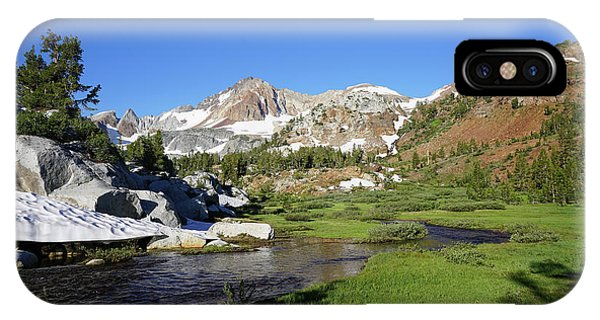 Mcgee Creek Below Red And White Mountain Phone Case by Dale Matson