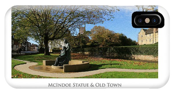 IPhone Case featuring the digital art Mcindoe Statue by Julian Perry