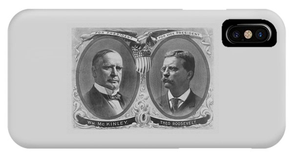 Election iPhone Case - Mckinley And Roosevelt Election Poster by War Is Hell Store