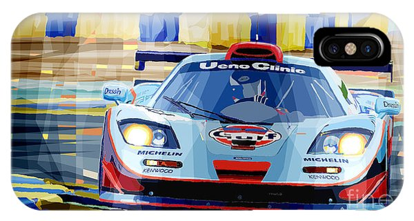 Car iPhone X Case - Mclaren Bmw F1 Gtr Gulf Team Davidoff Le Mans 1997 by Yuriy Shevchuk