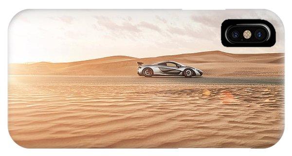 Mclaren P1 In Dubai Desert IPhone Case