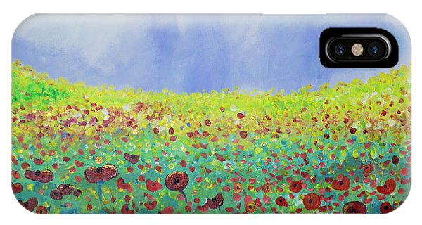 Meadow Of Poppies  IPhone Case