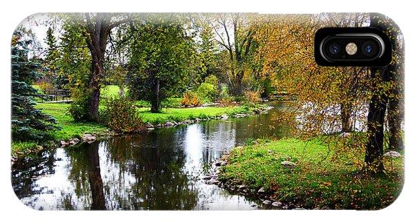 Meandering Creek In Autumn IPhone Case