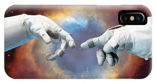 Astronaut iPhone Case - Meanwhile, In Space by Jacky Gerritsen