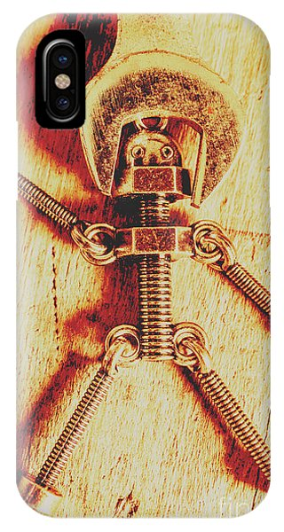 Technology iPhone Case - Mechanical Nut  by Jorgo Photography - Wall Art Gallery