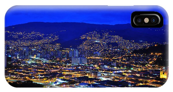 Colombia iPhone Case - Medellin Colombia At Night by Jess Kraft