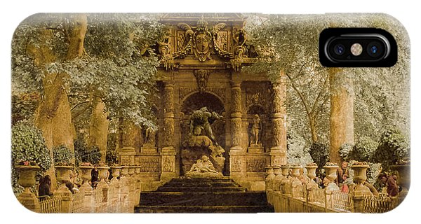 Paris, France - Medici Fountain Oldstyle IPhone Case