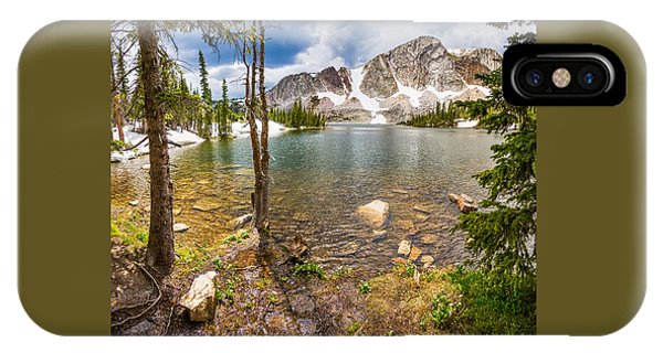 Medicine Bow Snowy Mountain Range Lake View IPhone Case
