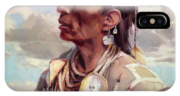 Native iPhone Case - Medicine Crow by Steve Henderson