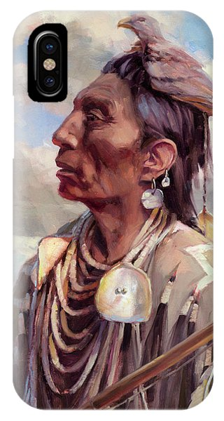 Necklace iPhone Case - Medicine Crow by Steve Henderson