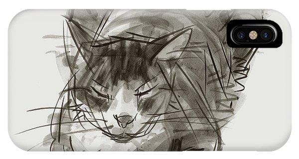 Meditating Cat IPhone Case
