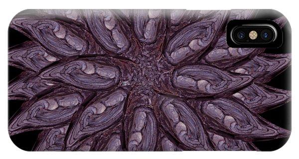 Meditating Monks In Lavender Kaleidoscope IPhone Case