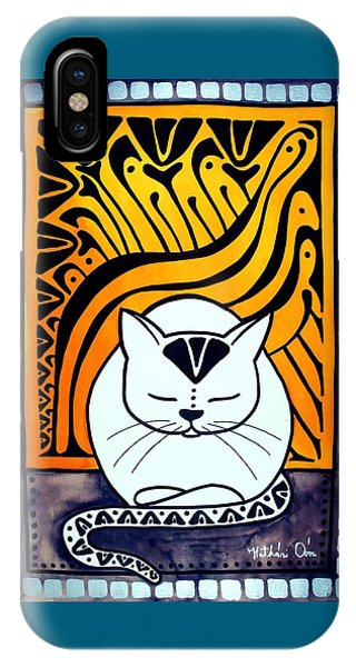 Meditation - Cat Art By Dora Hathazi Mendes IPhone Case