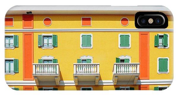 Mediterranean Colours On Building Facade IPhone Case