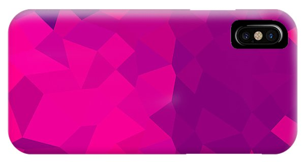 Medium Violet Red Abstract Low Polygon Background Phone Case by Aloysius Patrimonio