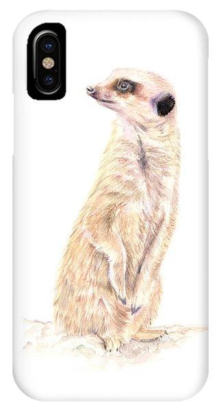Meerkat In Charge IPhone Case