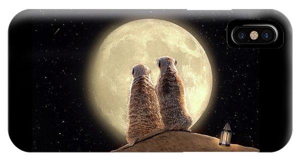 Meerkat Moon IPhone Case