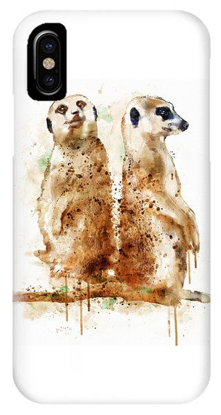 Meerkat iPhone Case - Meerkats by Marian Voicu