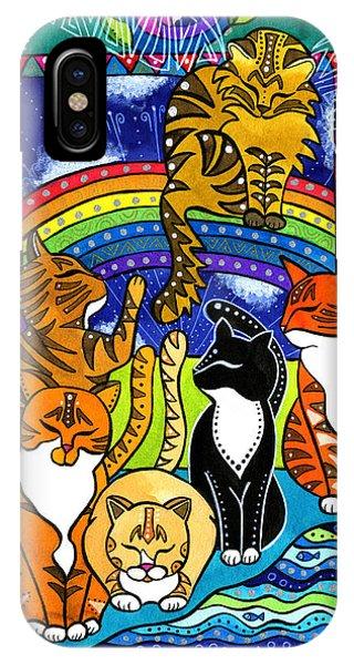 Meet Me At The Rainbow Bridge - Cat Painting IPhone Case