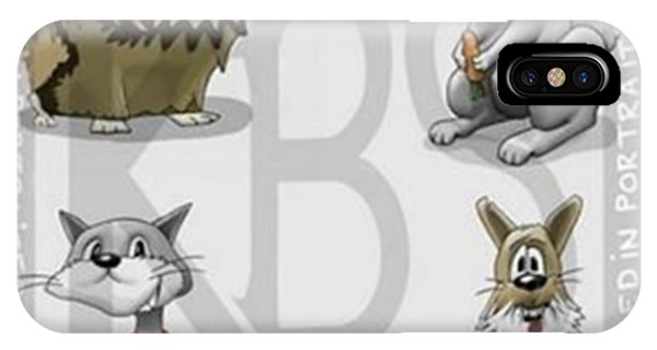 Cartoon iPhone Case - Meet The Critters!..4 Of My Creations by Kris Burton-Shea
