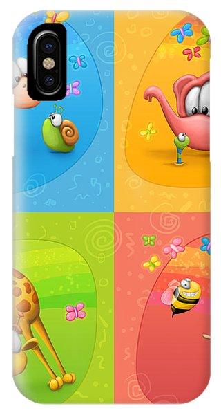 Bee iPhone Case - Meet The Little Ones by Tooshtoosh