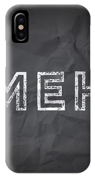 Thought iPhone Case - MEH by Samuel Whitton