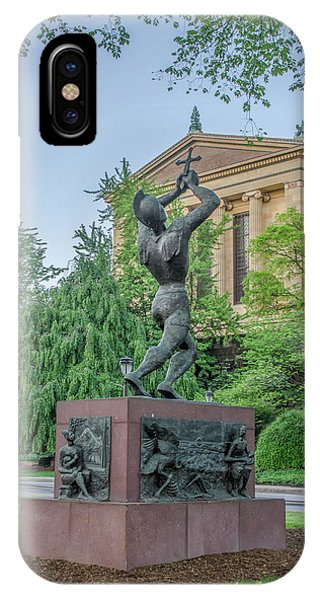iPhone Case - Meher Statue - Philadelphia Museum Of Art by Bill Cannon
