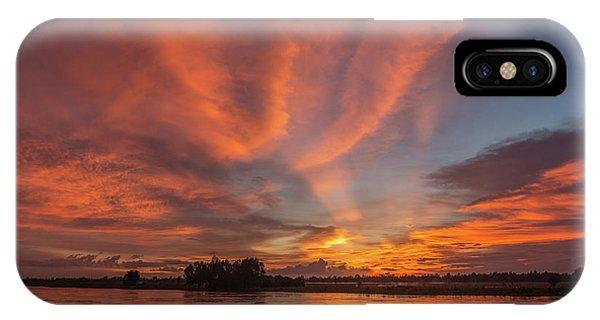 Mekong Sunset 3 IPhone Case