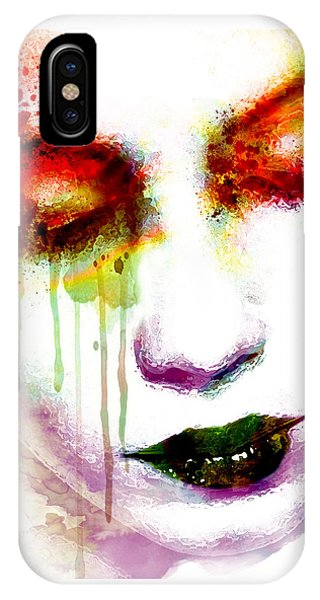 Melancholy In Watercolor IPhone Case