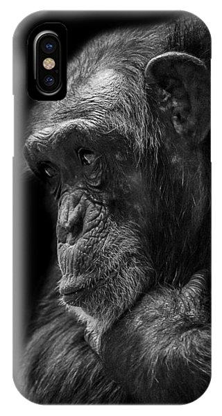 Chimpanzee iPhone Case - Melancholy by Paul Neville