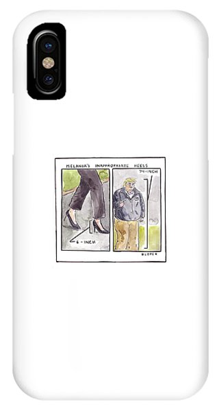 Melania's Inappropriate Heels IPhone Case