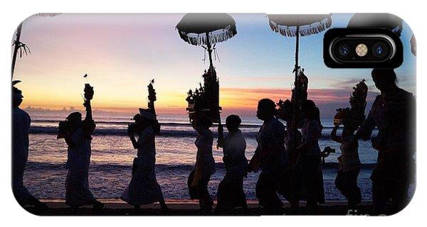 Tropes iPhone Case - Melasti Festival Ceremony Bali by Timea Mazug