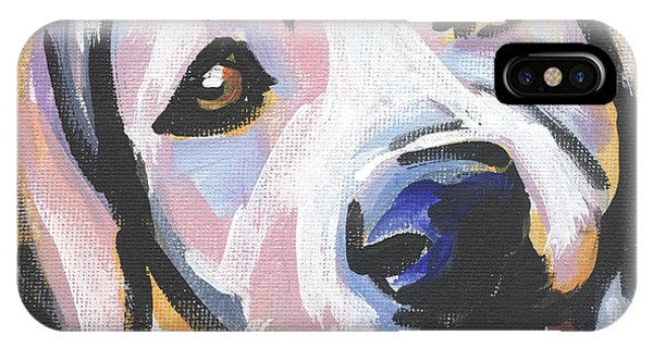 Retriever iPhone Case - Mellow Yellow by Lea S