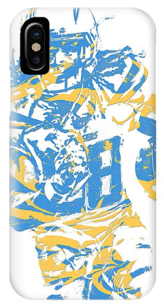 Phone Charger iPhone Case - Melvin Gordon Los Angeles Chargers Pixel Art 11  by Joe Hamilton da54c8d91