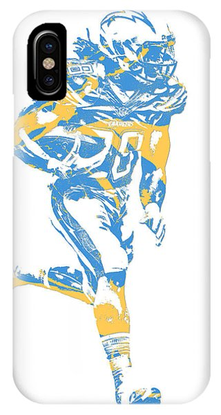 Phone Charger iPhone Case - Melvin Gordon Los Angeles Chargers Pixel Art 12  by Joe Hamilton 87a3f7c85
