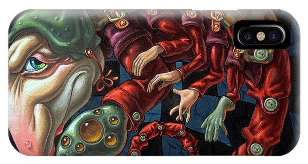 Memento Mori. Red Scorpion IPhone Case