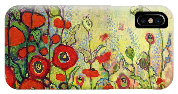 Poppies iPhone Case - Memories Of Grandmother's Garden by Jennifer Lommers