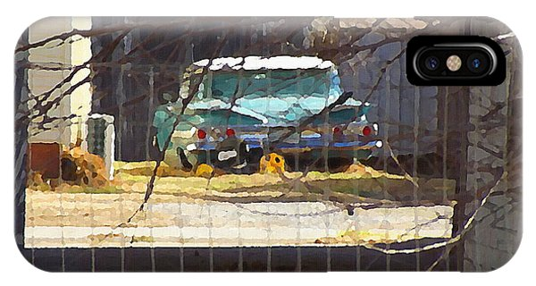 Memories Of Old Blue, A Car In Shantytown.  IPhone Case
