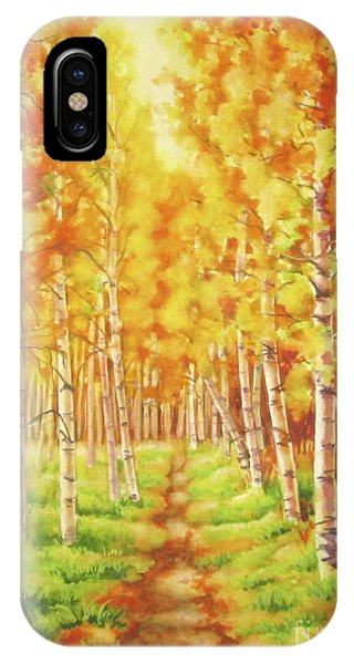 Memories Of The Birch Country IPhone Case